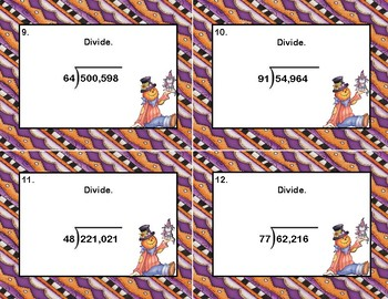 Division- 5-6 Digits by 2 Digits -Some Remainders-Column Division -Grades 5-6
