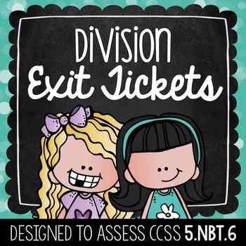 Common Core Exit Tickets: Division {5.NBT.6}