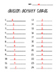 Division Activity Cards