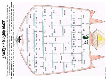Division Activity - Division Maze Bundle - 10 Pack! - aMAZEing!