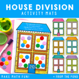 Division Activity - House Play Doh Mats - 4 Equal Groups
