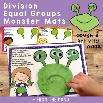 Division Activity - Monster Play Doh Mats - Equal Groups