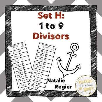 Division Anchors Set H: 1 to 9 Divisors