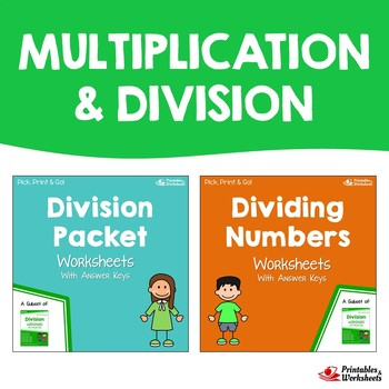 Math Division And Multiplication Practice Worksheets