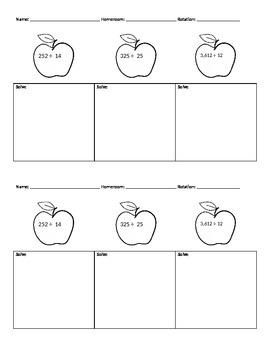 Division Apples 2-Digit Divisors