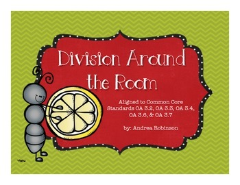 Division Around the Room - 3rd grade