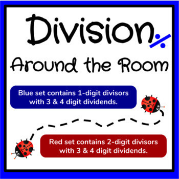 Division Around the Room - Two Differentiated Division Card Sets