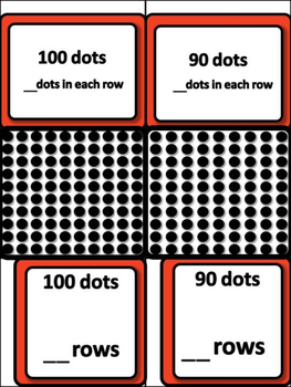 Division Array Cover up cards