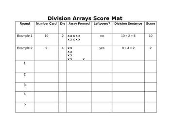 Division Arrays