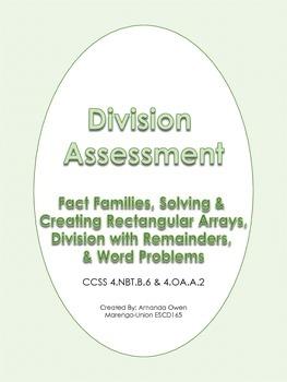 Division Assessment- CCSS Aligned
