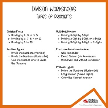 Division Assessment Worksheets