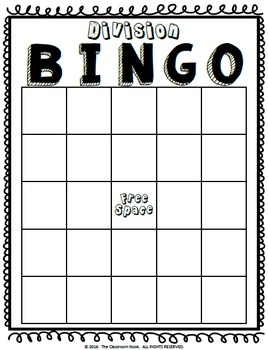 Division BINGO {14 Create-Your-Own Games!}