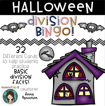 Division BINGO! 32 different cards... Halloween Theme!
