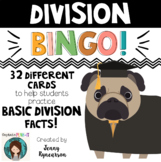 Division BINGO! 32 different cards... with CUTE PUPPIES!