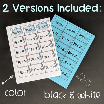 Division Fact Fluency Game