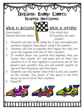 Division BUMP Games {facts 2-12} 4.NBT.6