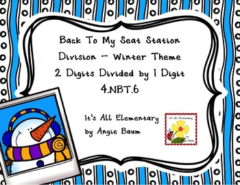Division Back To My Seat Station 2 Digit Dividends Winter Theme