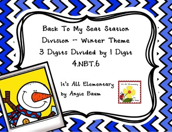 Division Back To My Seat Station 3 Digit Dividends Winter Theme