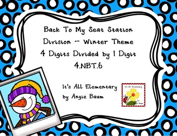Division Back To My Seat Station 4 Digit Dividends Winter Theme