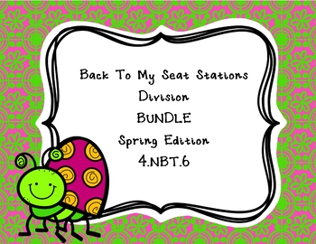 Division Back To My Seat Stations BUNDLE Spring Edition