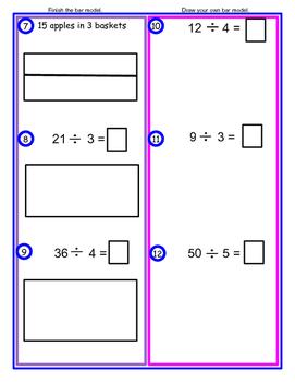 Division ----  Bar Model