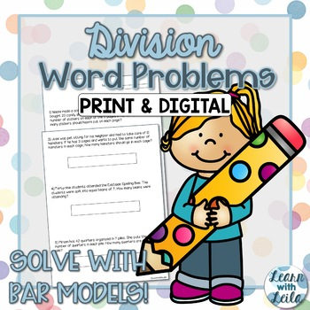 Division Bar Model Word Problems