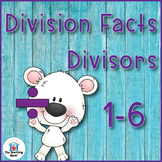 Division Basic Facts 1-6's Divisor Practice