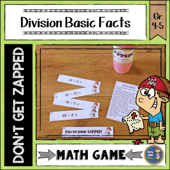 Division Basic Facts Don't Get ZAPPED Math Game