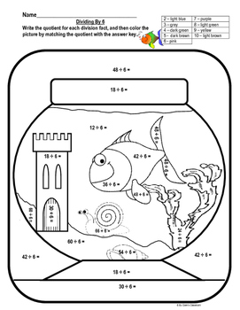Division - Basic Facts Worksheets and Drills
