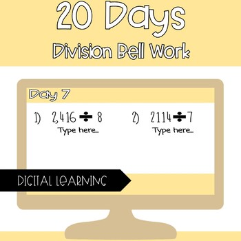 Division Bell Work Google Classroom
