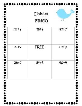Division Bingo