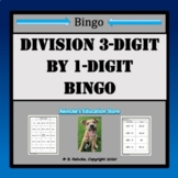 Division Bingo 3-Digit by 1-Digit (30 pre-made cards!!!)