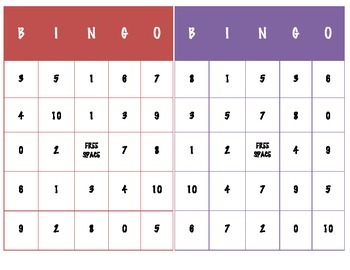 Division Bingo (Facts through 5)