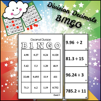 Math BINGO: Division OF Decimals