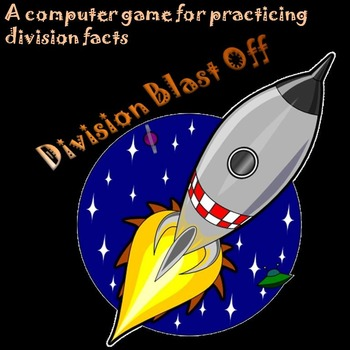 Division Game: Division-Fact Practice Computer Game--Division Blast Off
