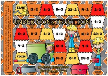 Division / Reverse Multiplication Board Game BUNDLE #teachersloveteachers