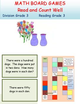 Division Board Game Grade 3