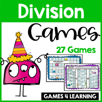 Monsters Division Board Games: 27 Division Games for Division Facts ...