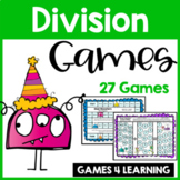 Monster Math Division Board Games: 27 Division Games for D