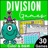 Monster Math Division Games for Fact Fluency