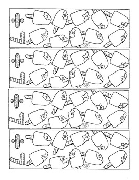 Division Bookmark Sevens Practice PDF Printable Ice Cream Bar Coloring Page