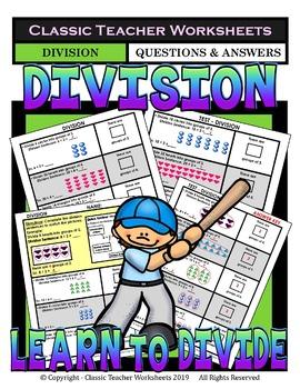 Division Bundle-Learn to Divide-Set 1-2nd Grade (Grade 2)-3rd Grade (Grade 3)