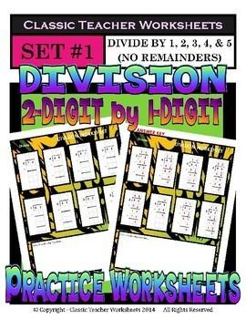 Division Bundle - Set 1 - 3rd Grade (Grade 3) - 4th Grade (Grade 4)