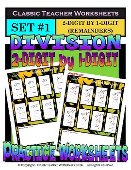 Division Bundle - Set 1 - 4th Grade (Grade 4) - 5th Grade (Grade 5)