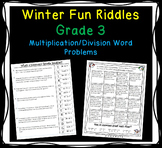 Multiplication and Division Winter Fun Word Problems - Grade 3