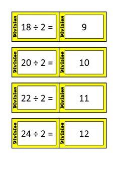 Quiz Quiz Trade Division By 1-12 Cards Bundle