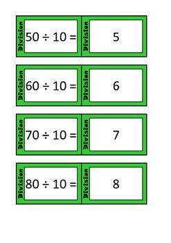 Quiz Quiz Trade Division By 10 Cards