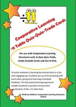 Quiz Quiz Trade Division By 11 Cards