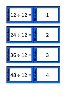 Quiz Quiz Trade Division By 12 Cards