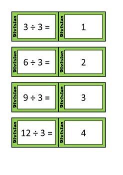 Quiz Quiz Trade Division By 3 Cards
